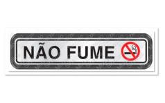 Placa Alumínio 05x25cm Não Fume Sinalize