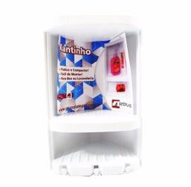 Porta Shampoo Para Canto Branco Artplas