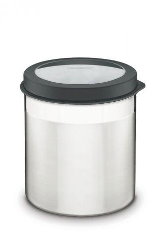 Pote Tramontina Em Aço Inox Com Tampa Plástica Preta E Visor 16 Cm 3,4 L