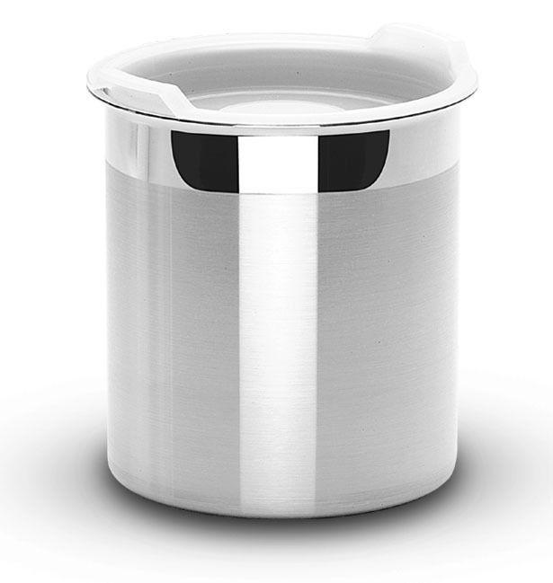Pote Tramontina Em Aço Inox Para Mantimentos Com Tampa Plástica 12 Cm 1,5 L