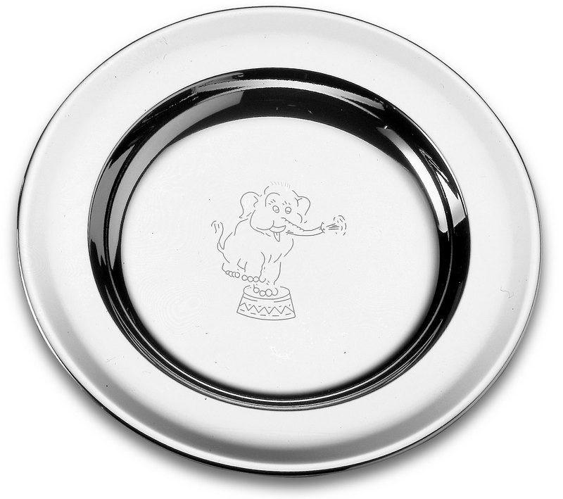 Prato Infantil Tramontina Em Aço Inox Elefante Baby 23 Cm
