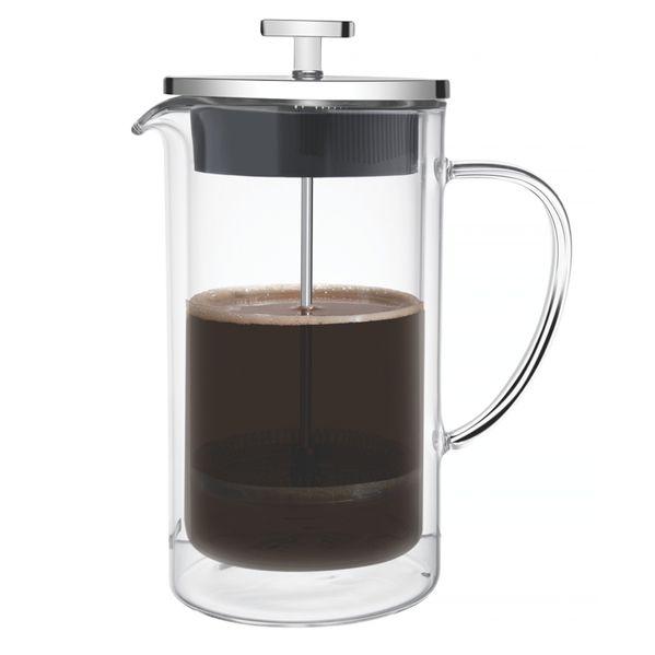 Prensa Francesa Tramontina para Café em Vidro Duplo e Aço Inox 8 cm 420 ml