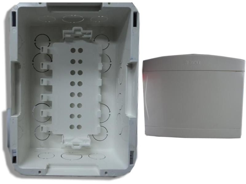 Quadro Distribuição TIGRE PVC Embutir S/Barramento 6e8 disjuntores