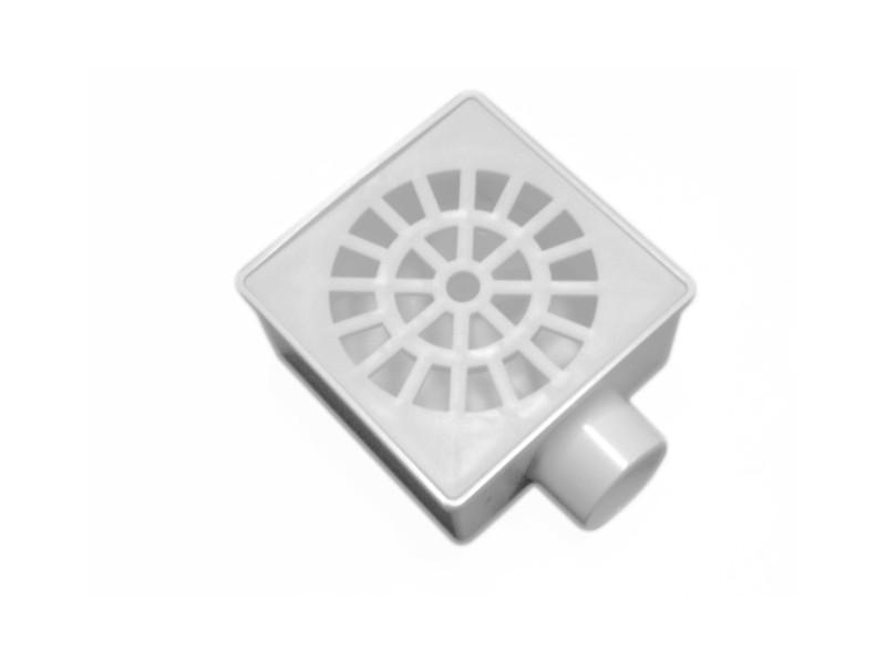 Ralo Sifonado / Seco Quadrado 10cm Branco HERC