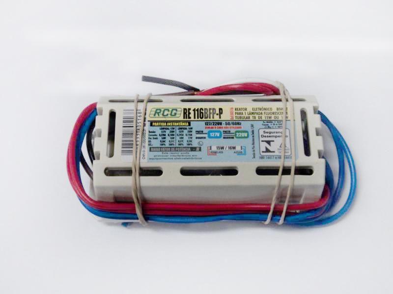 Reator eletrônico Bivolt 1x15/16W RCG