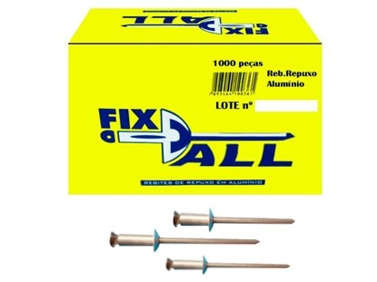 Rebite Alumínio Repuxo 612 - 500 Pçs Fix All