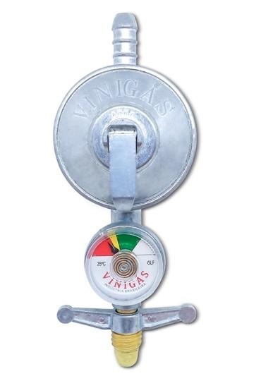 Regulador Gás Com Manômetro Vinigas