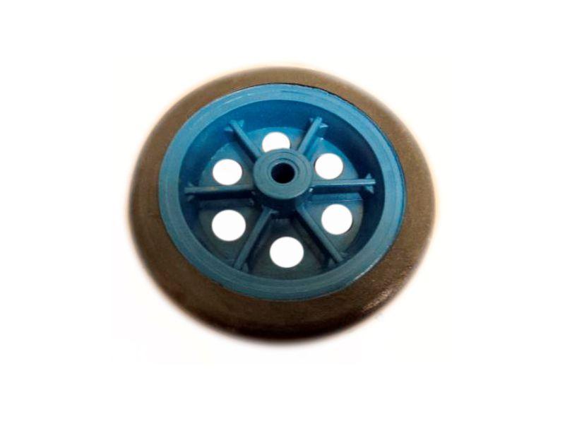 Roda Carrinho Bagagem Pvc Azul Kaori