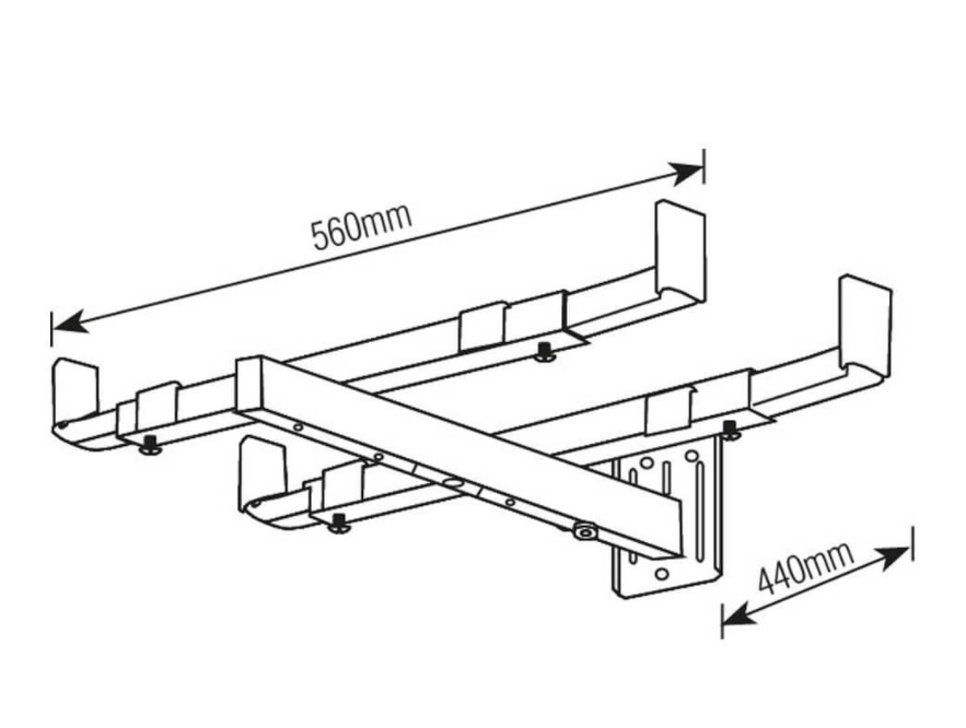 Suporte Micro-ondas/Forno Universal Parede Branco AÇO Carbono