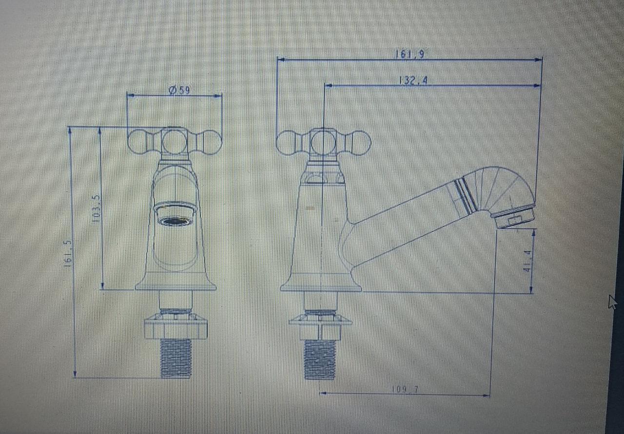 Torneira de mesa Bica Baixa para Banheiro Marujá