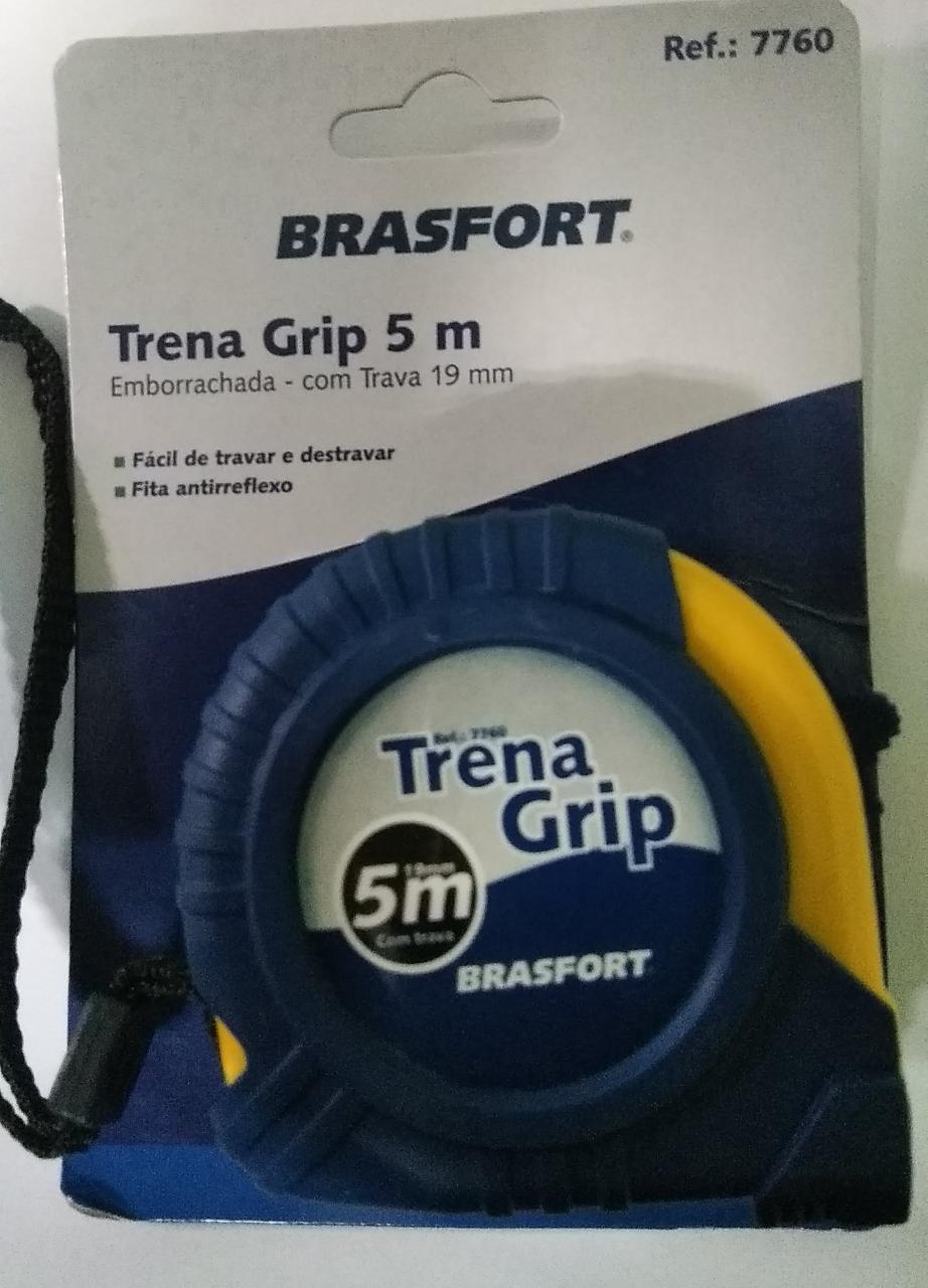 Trena Brasfort Auto Trava Emborrachado 5m X 19mm Brasfort