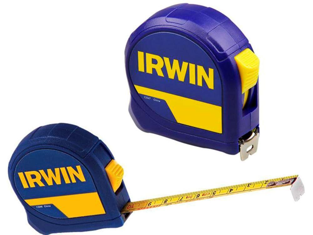Trena Irwin 5m Standard Com Fita De Aço Botão De Trava