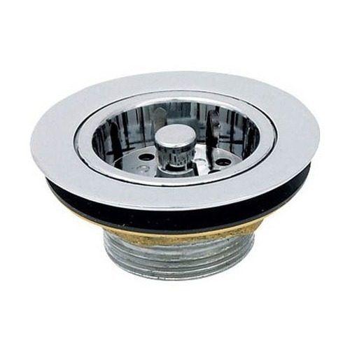 Válvula Americana Metal Cromada 3 1/2 X 1 1/2 C/ Cesto