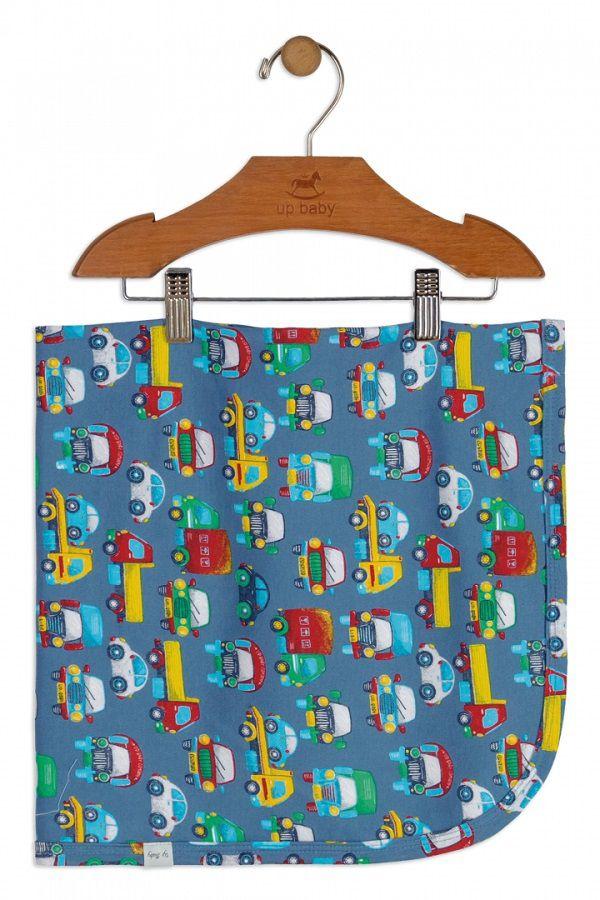 Manta em Suedine (Azul) Estampa Veículos - Up Baby