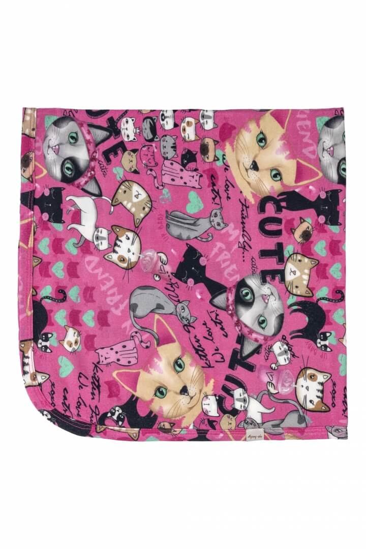 Manta em Suedine Gatinhos Pink - Up Baby