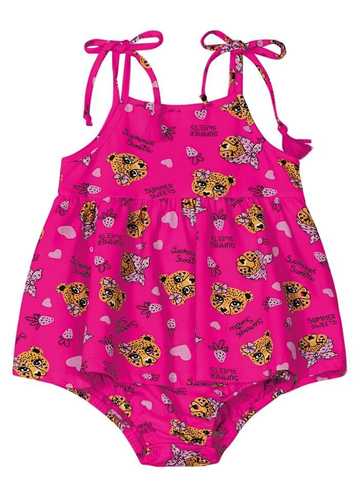 Vestido Body com Alça em Cotton Leve Summer Sweets - Rovitex Kids