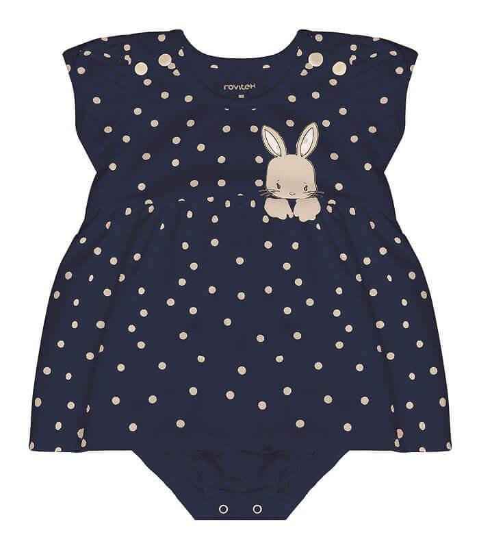 Vestido Body Sem Manga Cotton Leve Coelhinho - Rovitex Kids