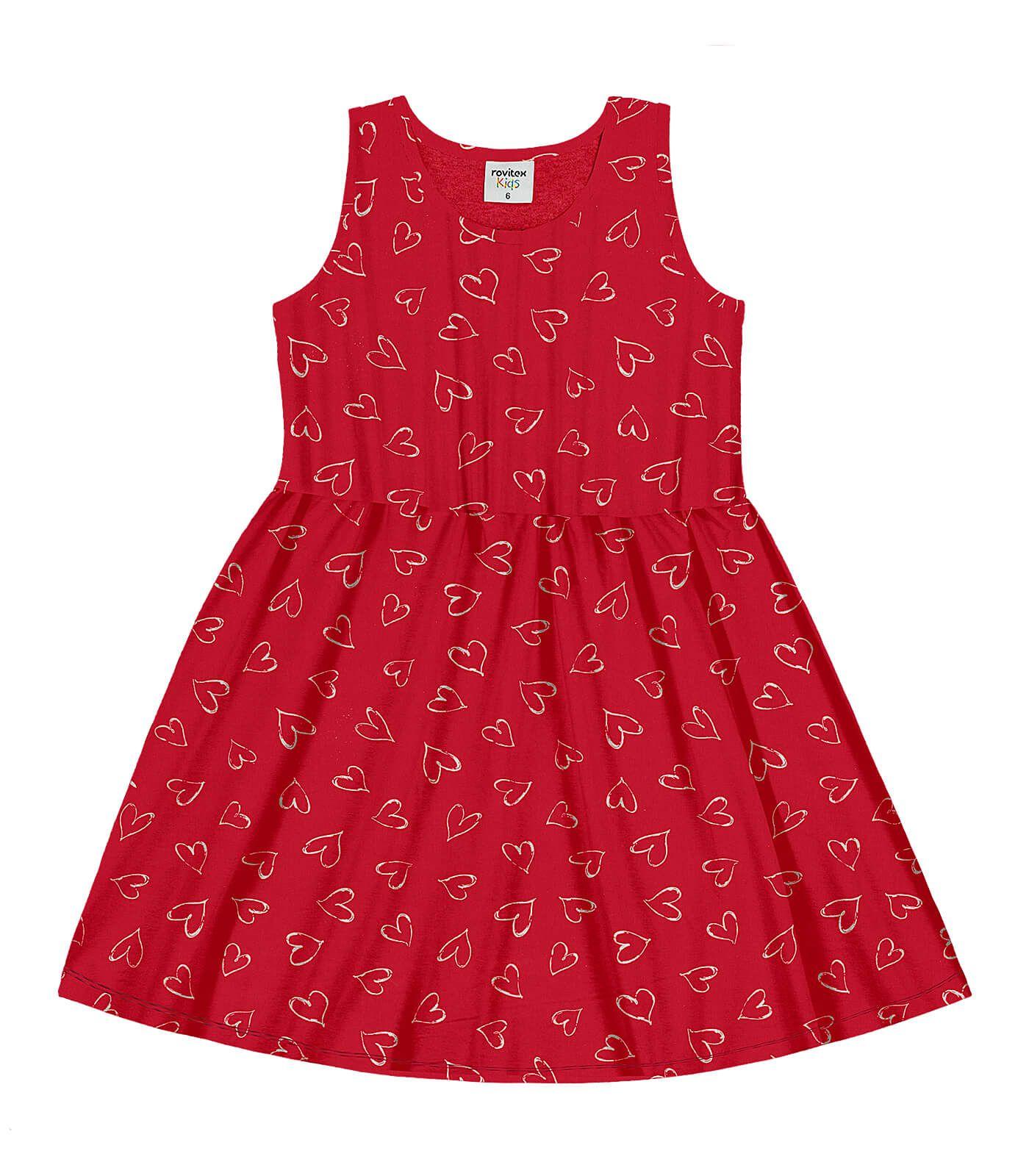 Vestido Meia Malha Jersey Dress Vermelho - Rovitex Kids