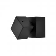 Acabamento para registro square preto fosco grande