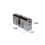 Cilindro Pado Tradicional Para Fechadura 74mm Cromado