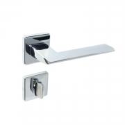 Fechadura Banheiro Imab Kyhe Roseta quadrada Cromada 55mm