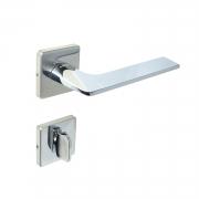 Fechadura Banheiro Imab Malba Roseta Quadrada Cromada 55mm