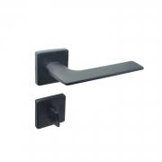 Fechadura banheiro Imab Malba Roseta Quadrada Preta 55mm