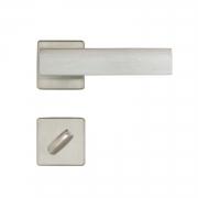 Fechadura Banheiro Imab Metro Light Roseta Quadrada Escovada 55mm