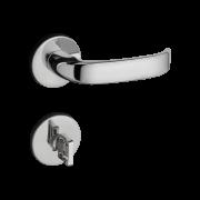Fechadura Banheiro Pado Magnum Roseta Redonda Cromada 55mm