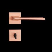 Fechadura Banheiro Pado Sara Roseta Quadrada Rose 55mm