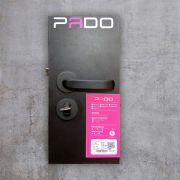 Fechadura Externa/Interna Pado Magnum Roseta Redonda Preta 40mm