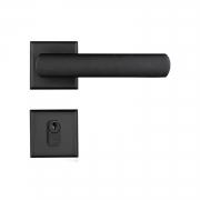 Fechadura Externa Pado Opera Roseta Quadrada Preta 55mm