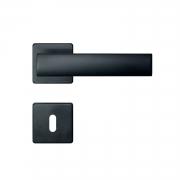 Fechadura Interna Imab Metro Light Roseta Quadrada preta 55mm