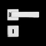 Fechadura Interna Pado Quadra Roseta Quadrada Cromada 40mm