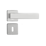 Fechadura Interna Pado Quadra Roseta Quadrada Escovada 40mm