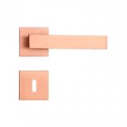 Fechadura Interna Pado Retro Roseta Quadrada Rose 55mm
