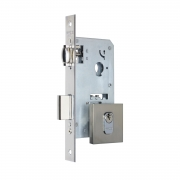 Fechadura Pado Rolete 45mm Porta Pivotante Cilindro de 55mm escovada