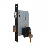 Fechadura Pado Rolete 55mm Porta Pivotante Cilindro de 55mm preto texturizado