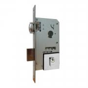 Fechadura Pado Rolete 55mm Porta Pivotante Cilindro de 74mm cromada