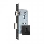 Fechadura Pado Rolete 55mm Porta Pivotante Cilindro de 74mm preto