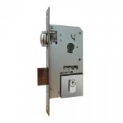 Fechadura Pado Rolete 55mm Porta Pivotante Cilindro de 90mm escovada