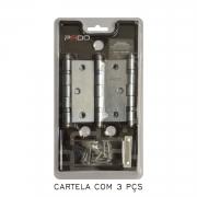 Kit Com 10 Cartelas De Dobradiça Pado Com Rolamento 3025/CRA