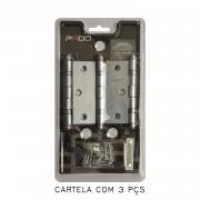 Kit Com 04 Cartelas De Dobradiça Pado Com Rolamento 3530/CRA