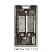 Kit Com 7 Cartelas De Dobradiça Pado Com Rolamento 3025/CRA