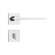 Kit Fechadura Pado nina cromada 55mm: 2 banheiro e 4 internas.