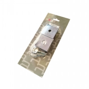 Kit roseta quadrada cromada para fechadura de banheiro