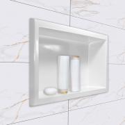 Nicho para banheiro mármore sintético Grande 62x32 branco