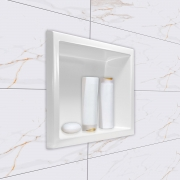 Nicho para banheiro mármore sintético Médio 44x32 branco