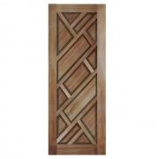 Porta de madeira maciça almofadada modelo pm - 06 Cumaru
