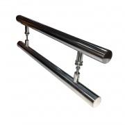 Puxador para porta de madeira e vidro modelo 7001 38x80 alumínio polido